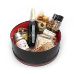 Coffret carton à chapeau > Champagne, épices et gourmandises