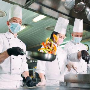 cuisine de restaurant covid